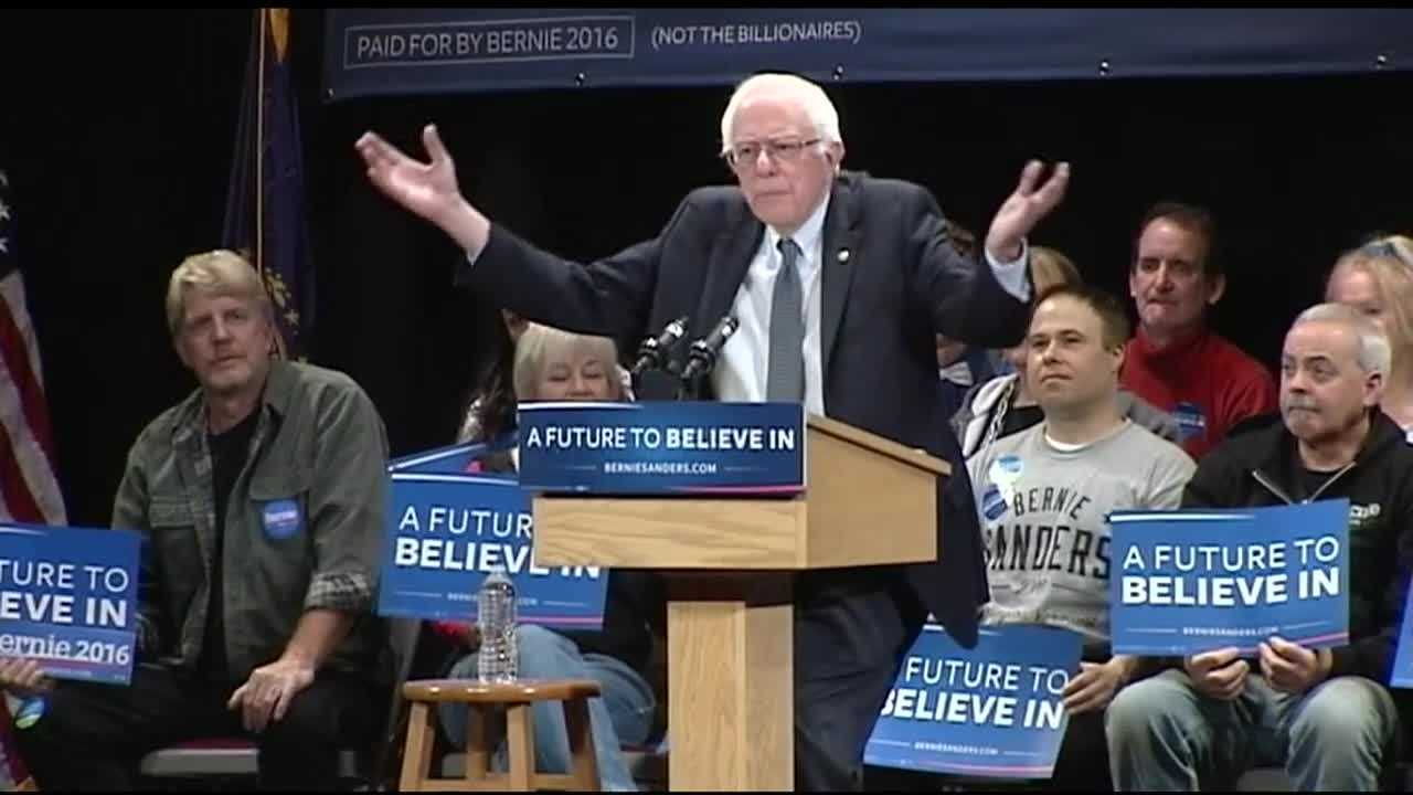 Speaking to a packed opera house in Claremont, democratic candidate Bernie Sanders had Iowa in the rear view mirror, driving straight toward next week's New Hampshire primary.