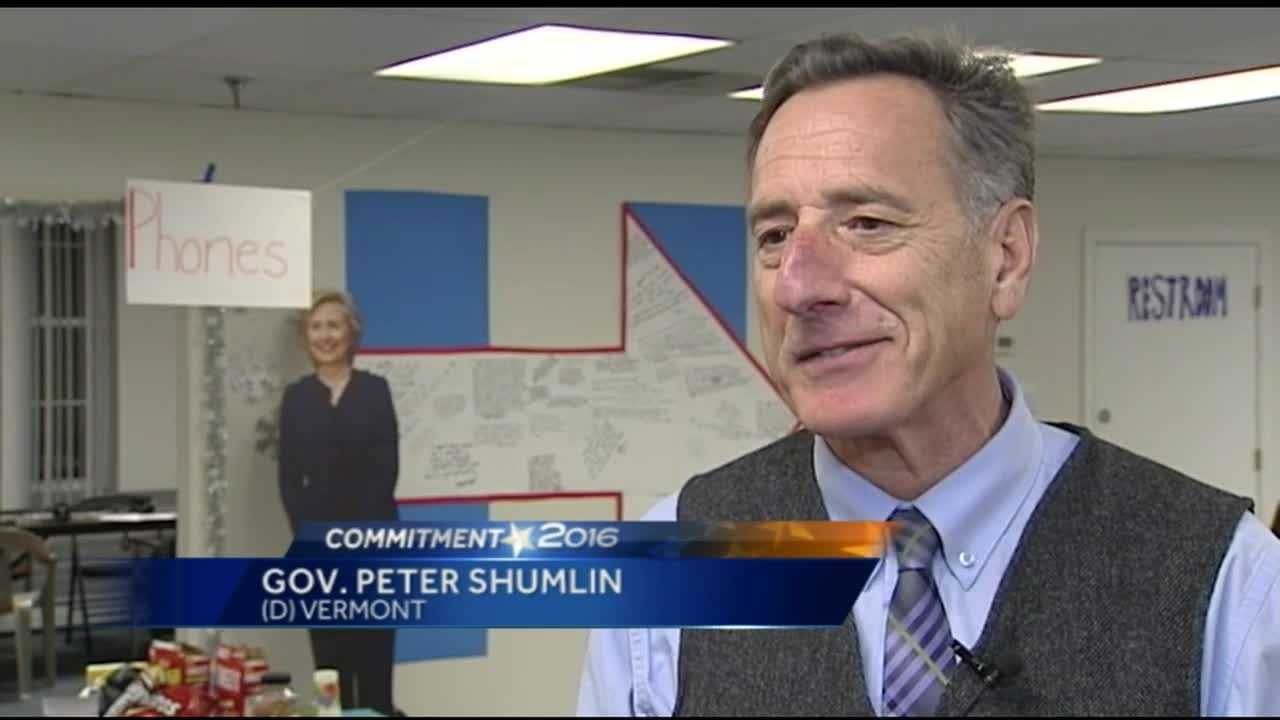 Shumlin and Kunin stump for Hillary Clinton