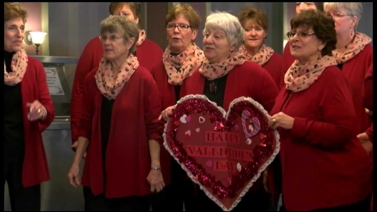 The Champlain Valley Sweet Adelines delivers singing Valentines each year.