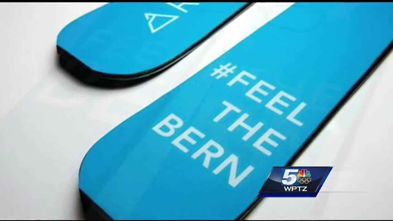 Local ski company, Renoun creates one-of-a-kind Bernie Sander ski.