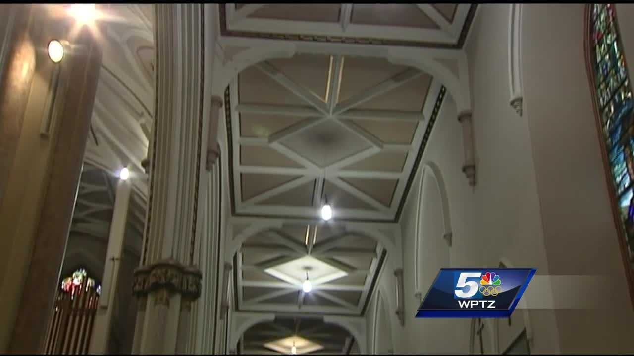 St. Peter's Church in Plattsburgh will get new lighting fixtures.