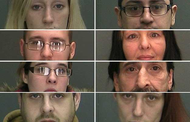 The Malone Village Police Department announced the arrests of eight people in a drug sales investigation in the Malone Area.