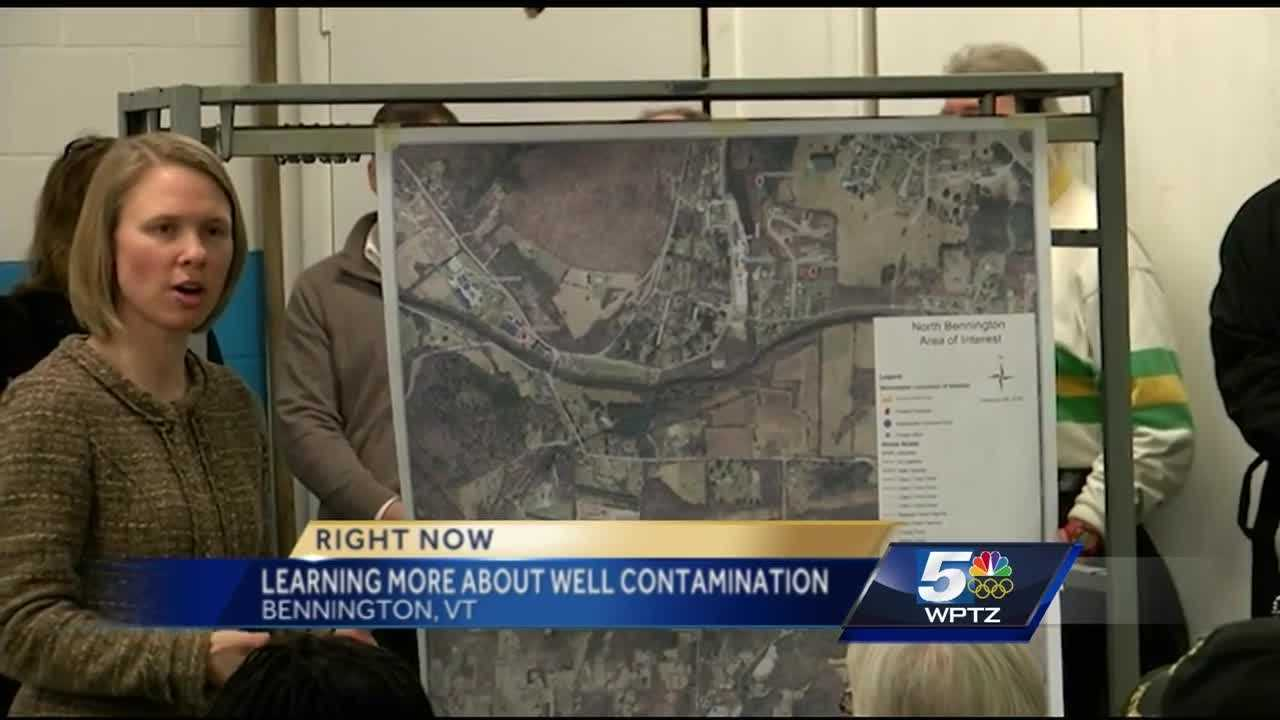WPTZ's Jennifer Sheahen is in North Bennington. Residents learned more about the well contamination problem Friday.