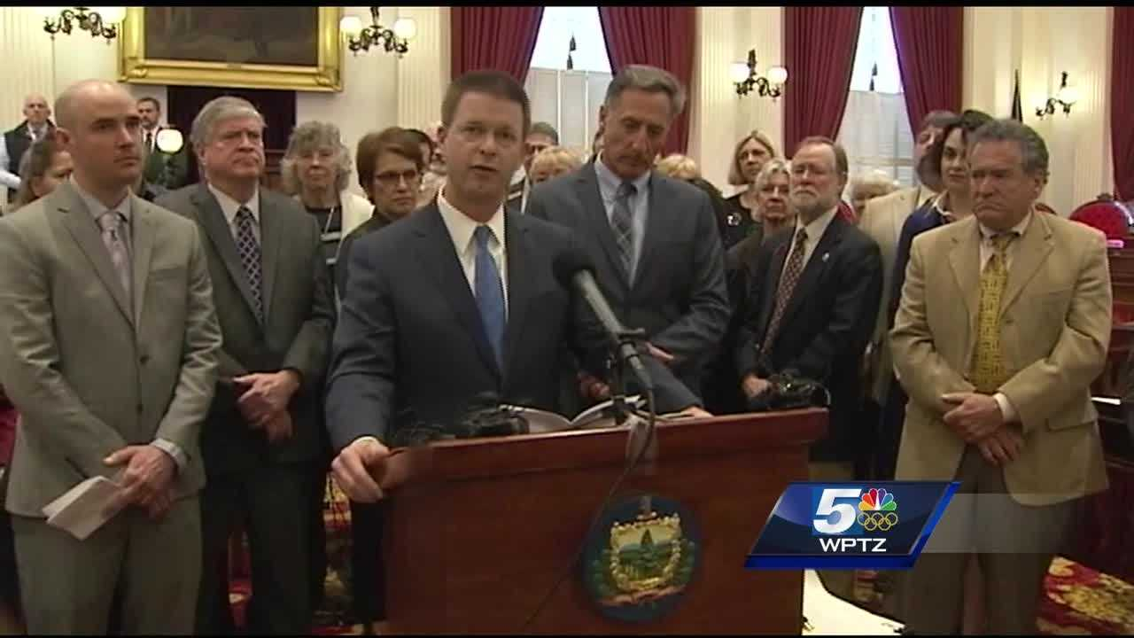 Gov. Shumlin signed a law Wednesday making Vermont the fifth state to require employers to provide paid sick leave benefits.