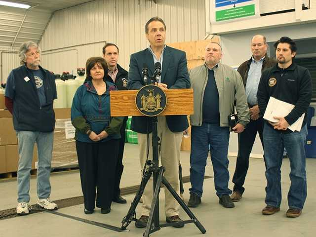 New York Gov. Andrew Cuomo said Sunday tests show the toxic chemical PFOA is at non-detectable levels in Hoosick Falls' water.
