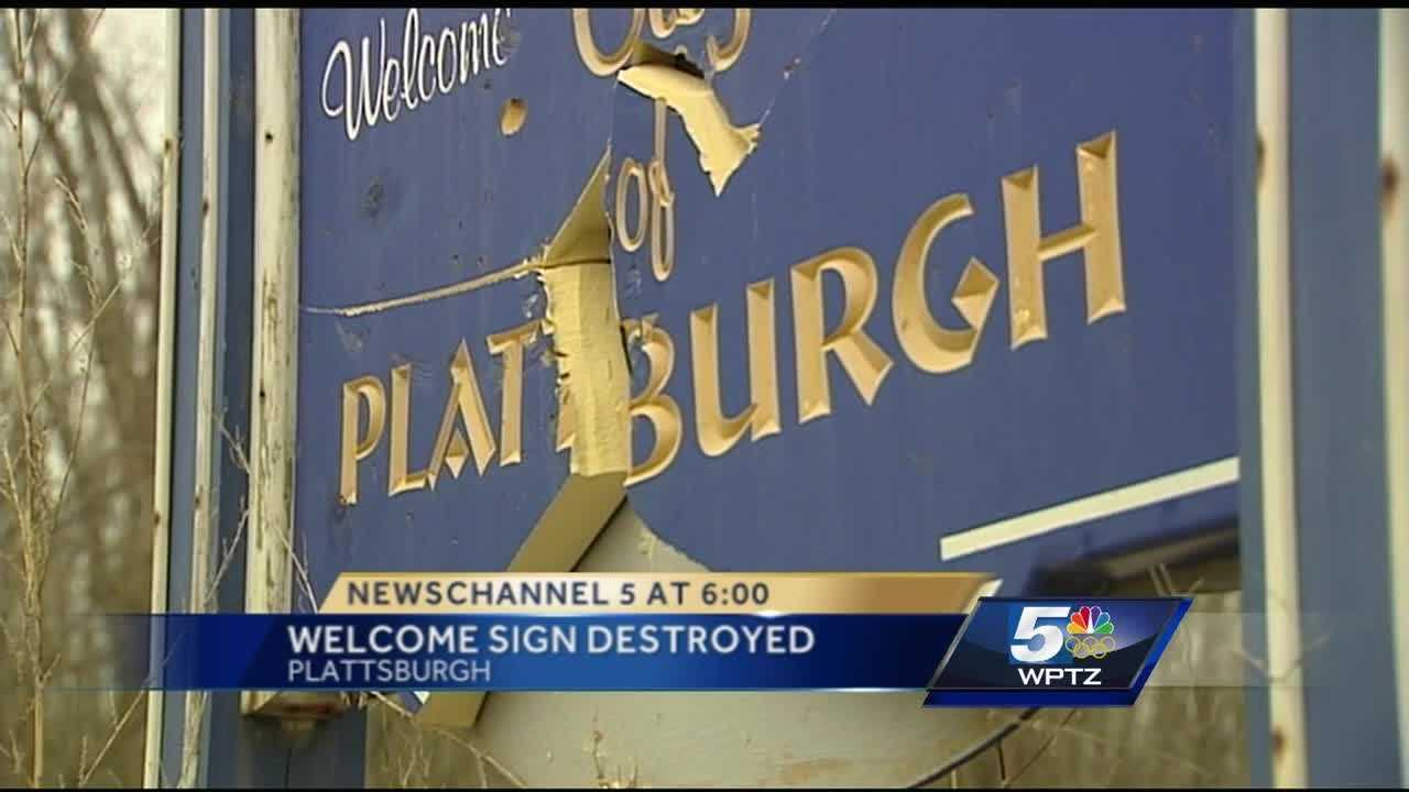 Plattsburgh police are asking for the public's help figuring out what happened to a Lake City welcome sign.