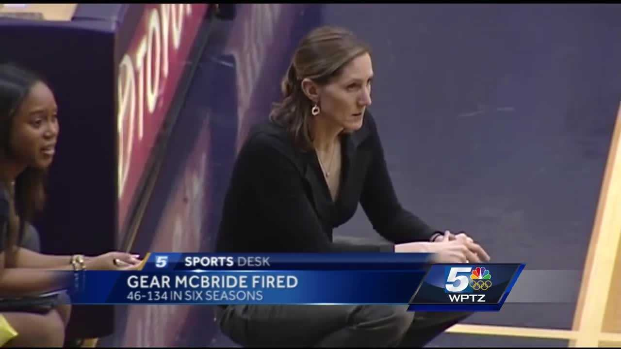 Vermont announces Lori Gear McBride has been fired as head women's basketball coach at the university.