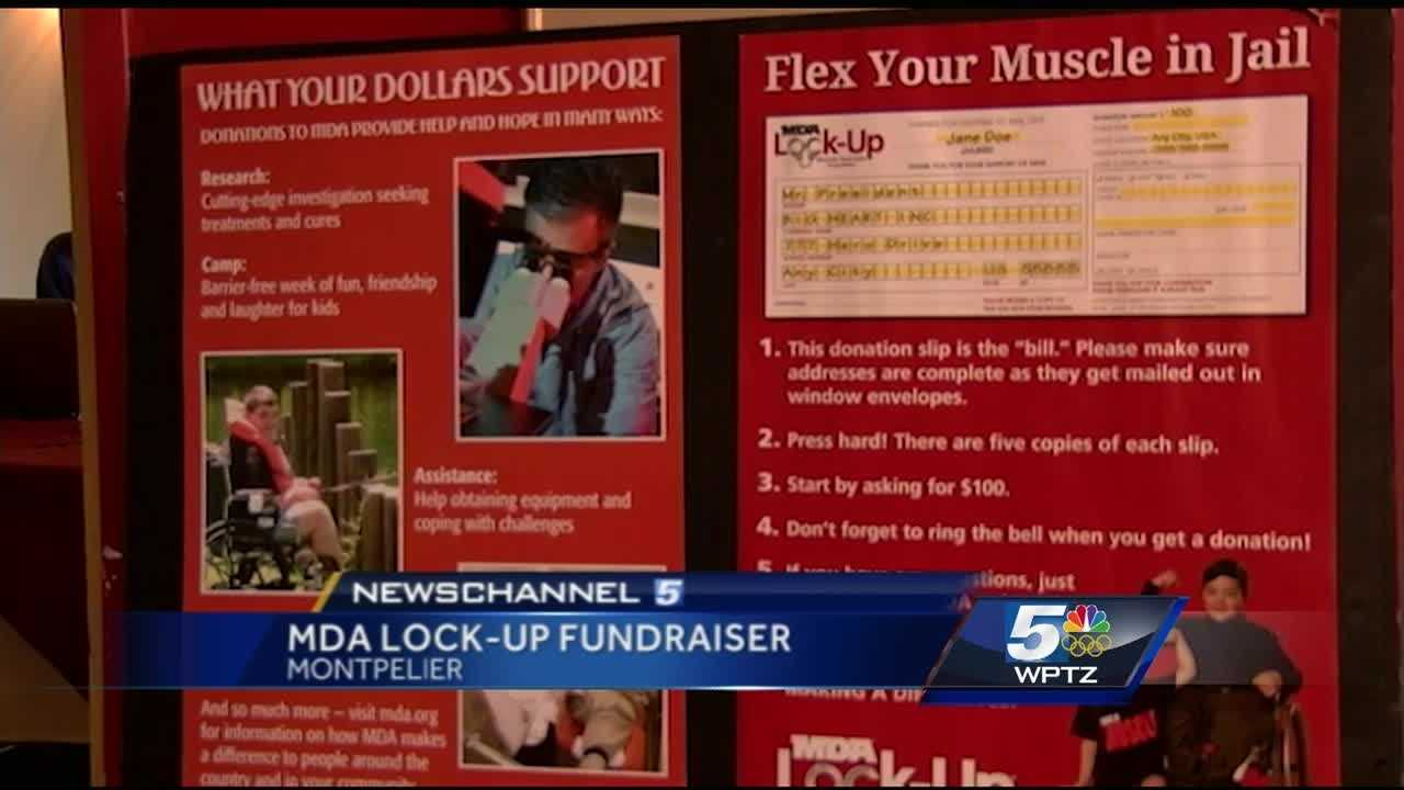 Participants ask friends and family for donations to their bail, and all funds go to the MDA