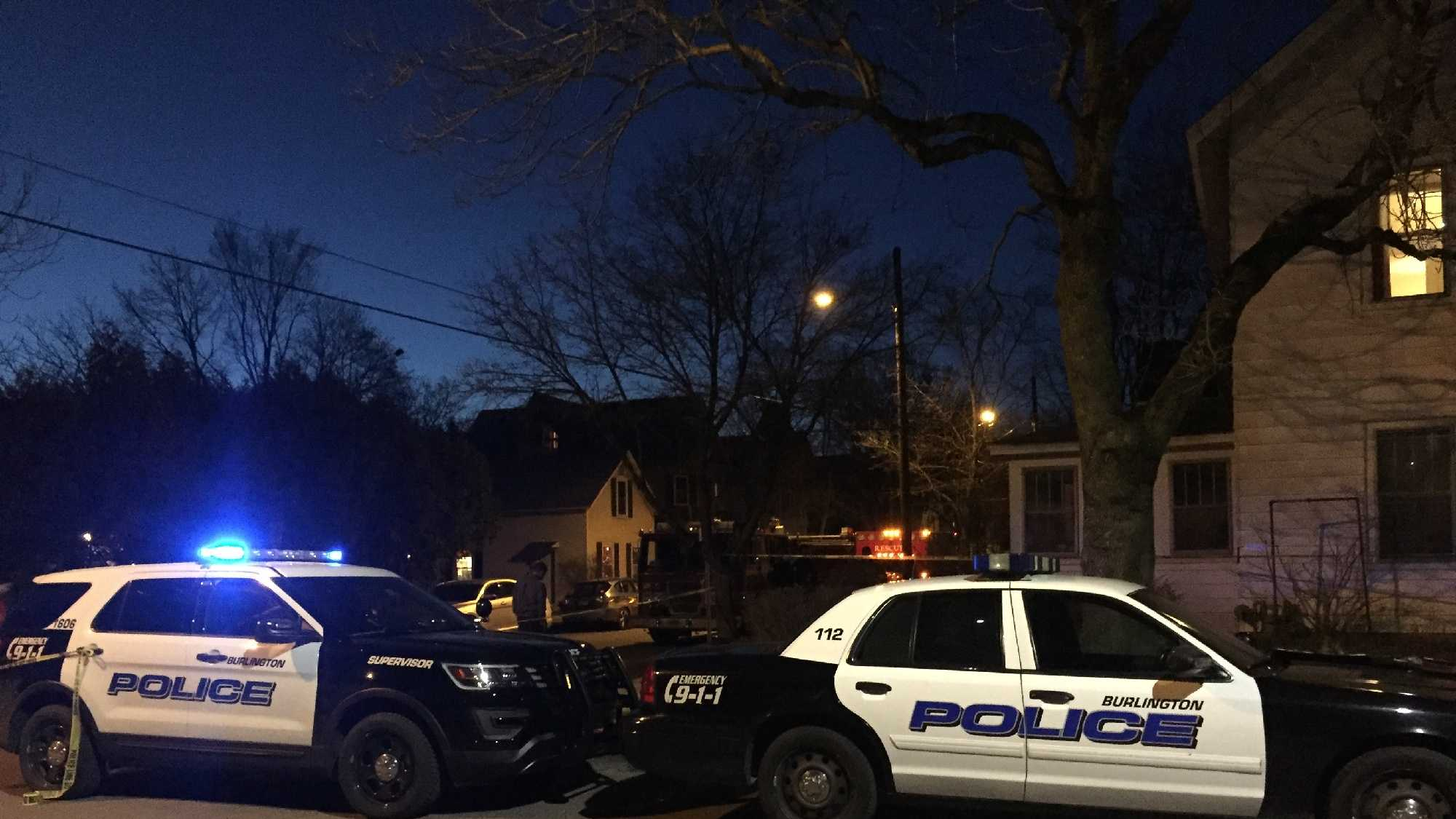 Burlington police closed off Greene Street in Burlington as part of an investigation Thursday night.