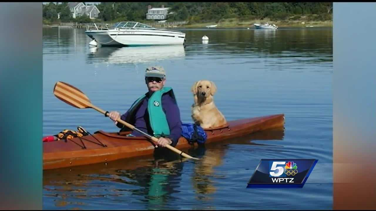 A Vermont man built a custom kayak with seats for his dogs.