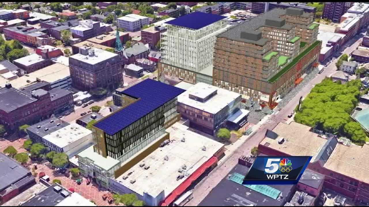 Mayor and developer release predevelopment plans for Burlington Town Center.