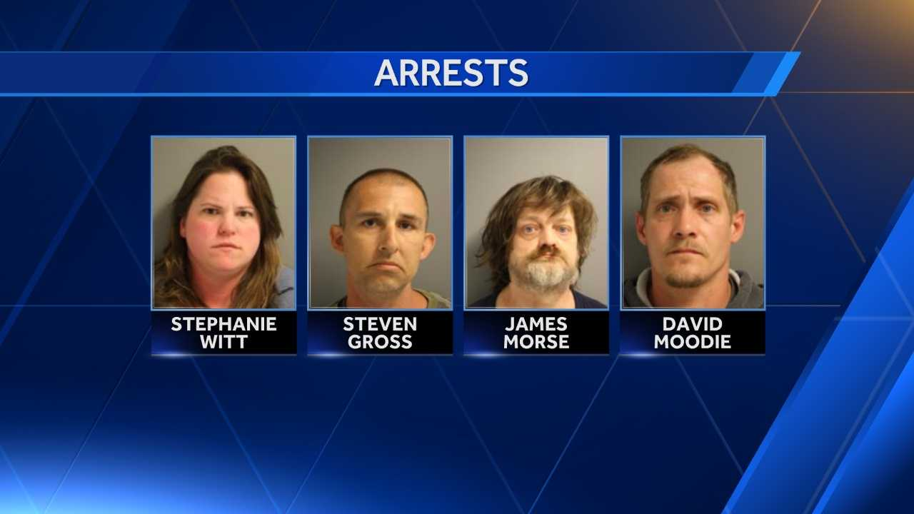 Windsor police, with help from the Weathersfield police, arrested four people in a drug sting Thursday morning.