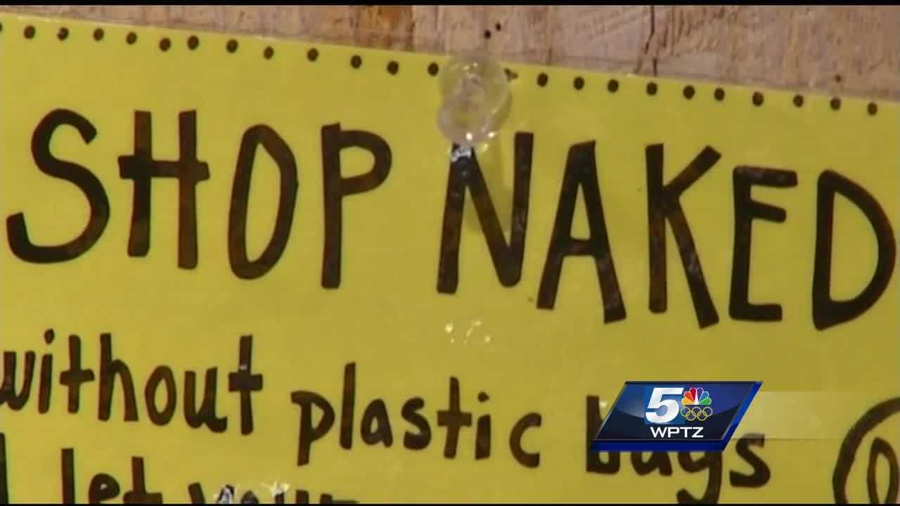 """Shop naked"" to the Woodstock Farmers' Market means to let fruits and veggies traditionally placed in lightweight produce bags to instead be carted around the store with no bag to cut down on plastic."