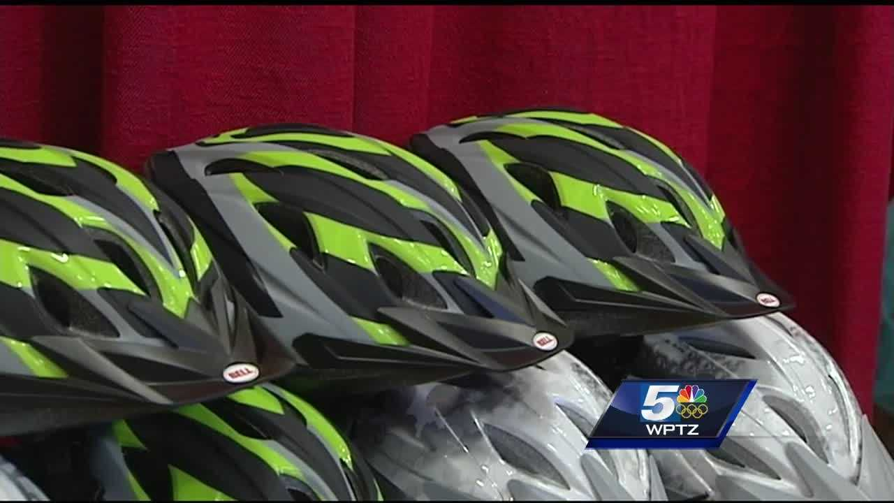 Hundreds of students in Clinton County are now proud owners of new bicycle helmets.