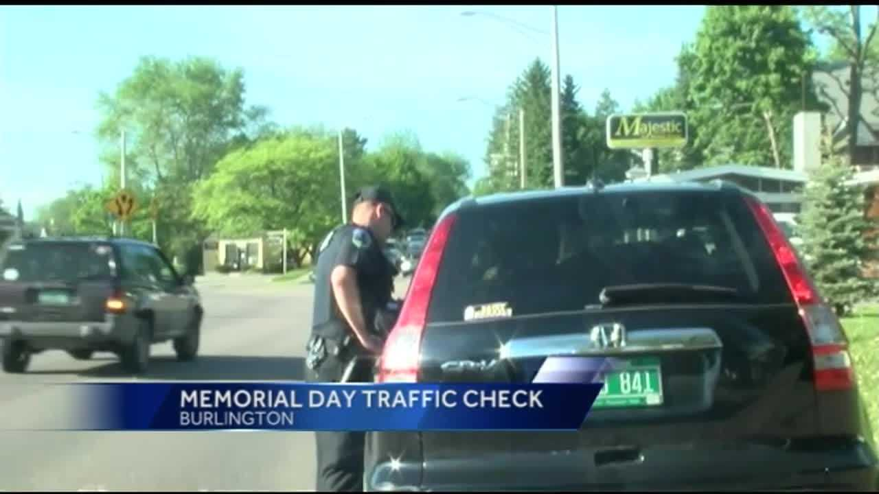The Burlington Police Department increases traffic stops with Memorial Day weekend, as part of 'Click it or ticket' initiative.