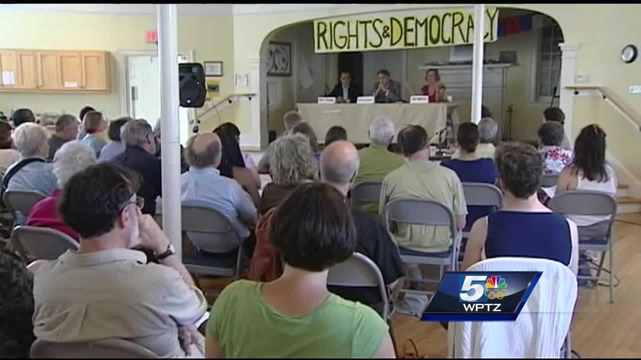 The 'Rights and Democracy' gubernatorial panel in Montpelier hosted all three democratic candidates: Matt Dunne, Sue Minter and Peter Galbraith.