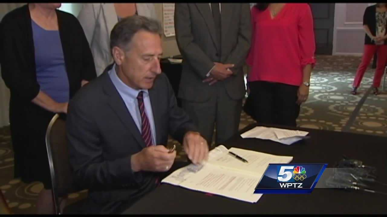 Gov. Peter Shumlin, D-Vermont, signed into law new safety protections for social workers and for victims of stalking.