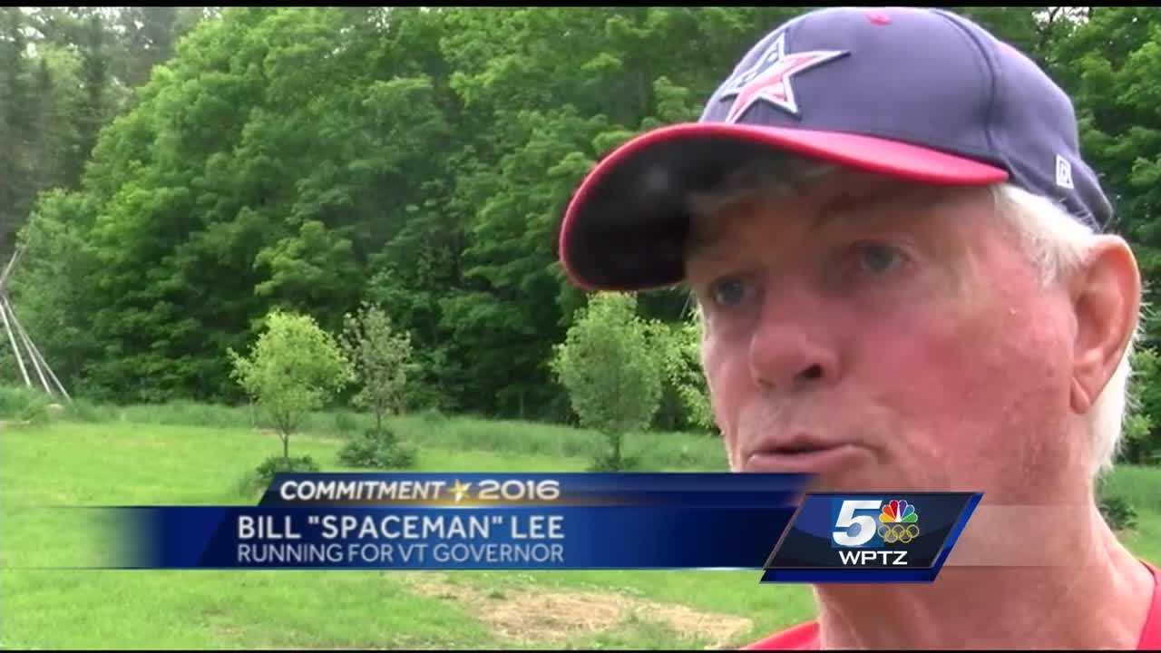 """Former Boston Red Sox pitcher Bill """"Spaceman"""" Lee, now running for Governor of Vermot, hosted his first 'meet-and-greet' in Cabot."""