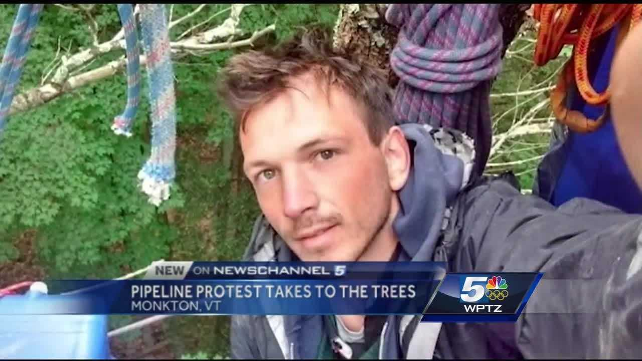 When Samuel Jessup comes out of the tree, troopers told him he'll be arrested for unlawful trespass and said the longer he stays up there, he could face more charges, including resisting arrest. But Jessup says being arrested. and spending over 24 hours in a tree is a small price to pay.