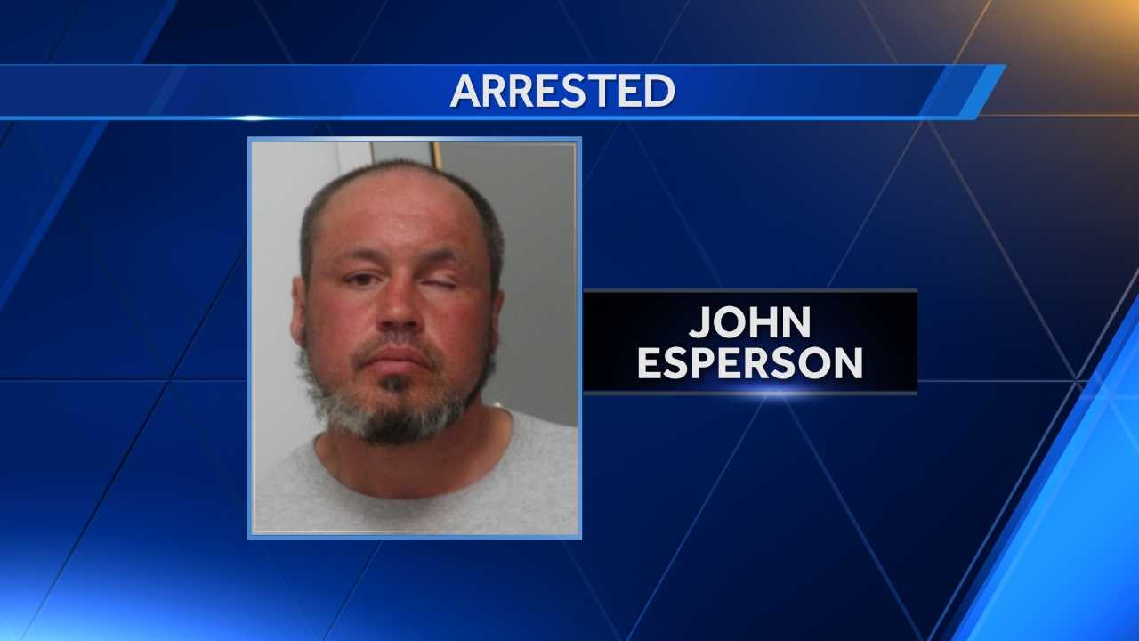 John Esperson, 42, was arrested for shouting racial slurs in downtown Burlington on Wednesday.