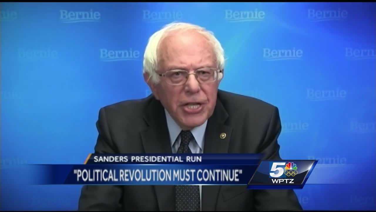 Vermont Sen. Bernie Sanders will addressed his supporters via a live web stream Thursday night.