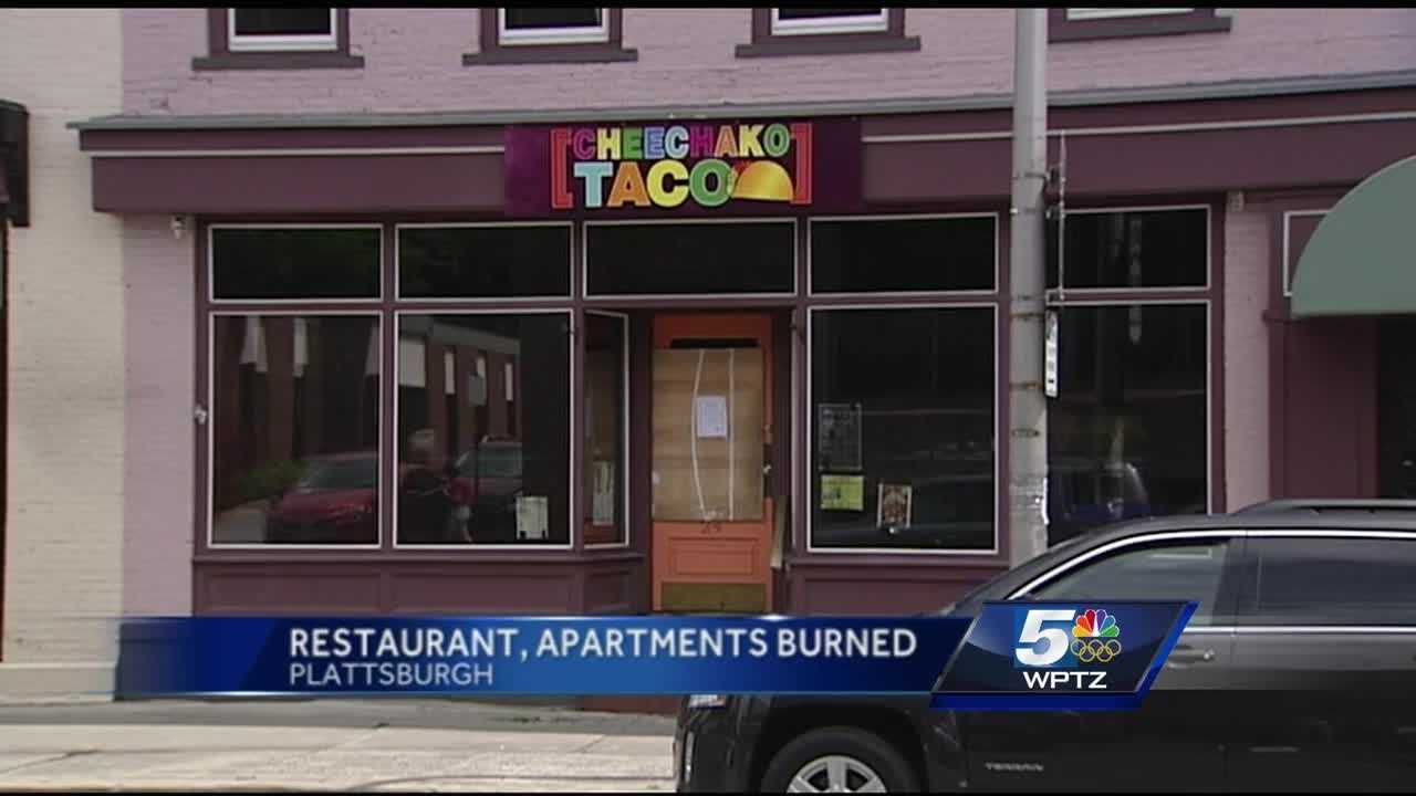 Plattsburgh Fire Chief Scott Lawliss says a fire started in the restaurant's kitchen early Friday morning.