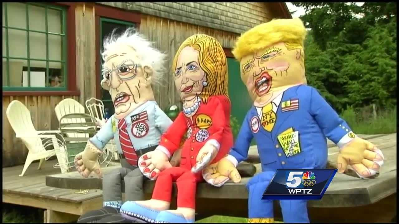 Waterbury-based Fuzzu is creating dog and cat toys in the likeness of this year's presidential candidates.