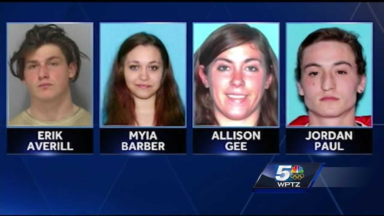 Four suspects charged in the beating death of Amos Beede appeared in court Monday for arraignment.