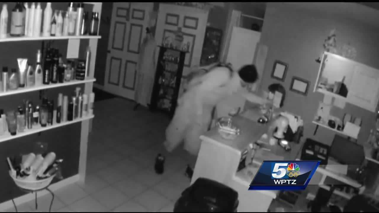 Police in South Burlington are investigating a burglary in which two men are suspected of stealing donations for a children's cancer charity.
