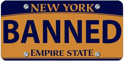 The Times Unioncompiled a list ofpersonalized plates not allowed by New York's Department of Motor Vehicles. Check out what's been rejected.