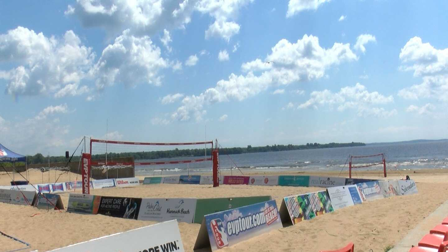 The Plattsburgh City Beach is filled with athletes this weekend. They're playing beach volleyball for the EVP tour.