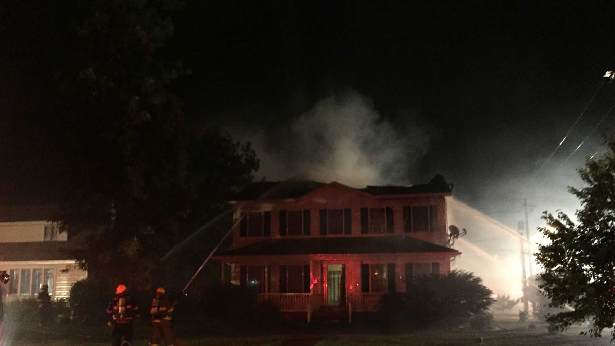 A fire badly damaged a Plattsburgh home Friday night.