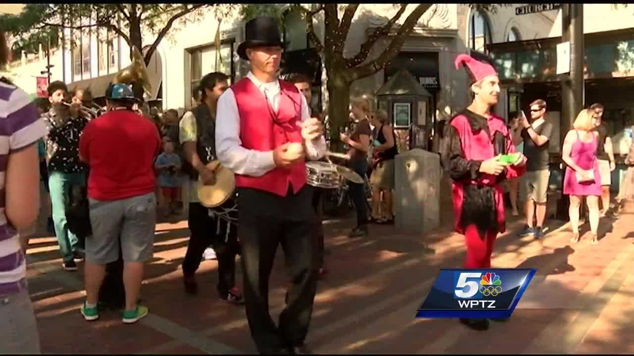 BCA's Festival of Fools kicked off with a parade in Burlington Friday.