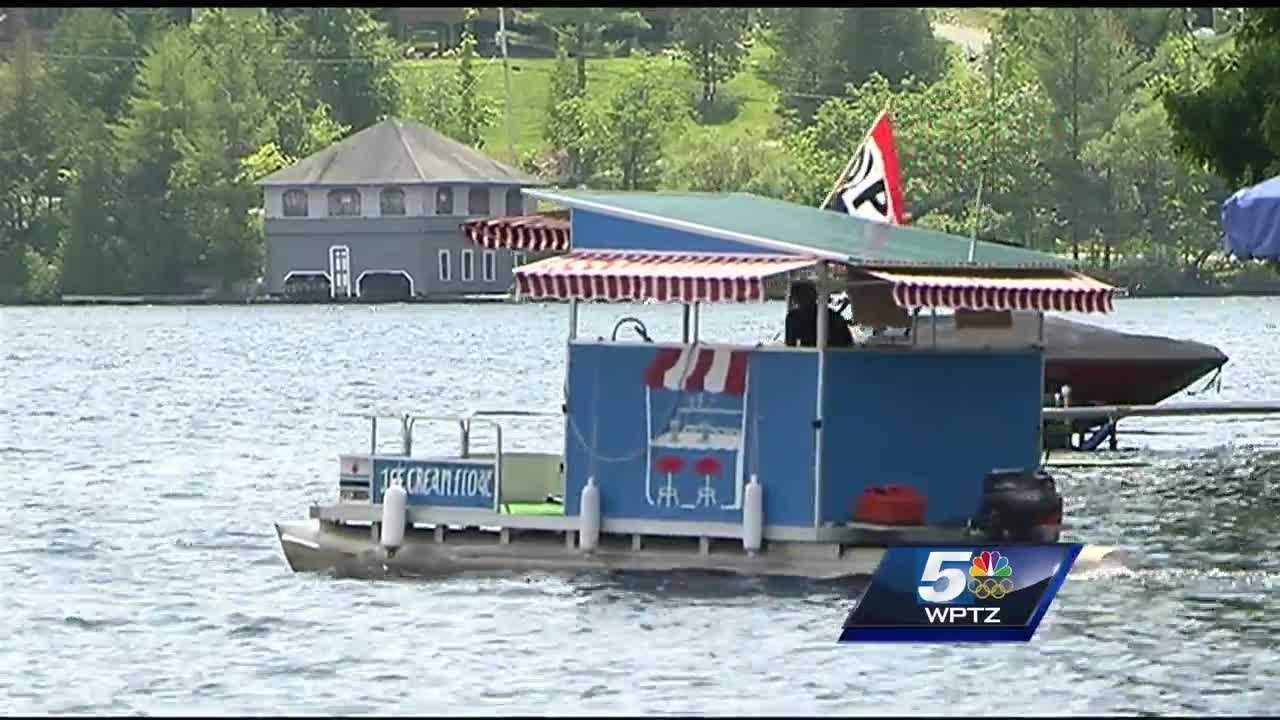 A new business called the Ice Cream Float, the summer job of a teenager from Rutland, is turning heads on Vermont's Lake Bomoseen.