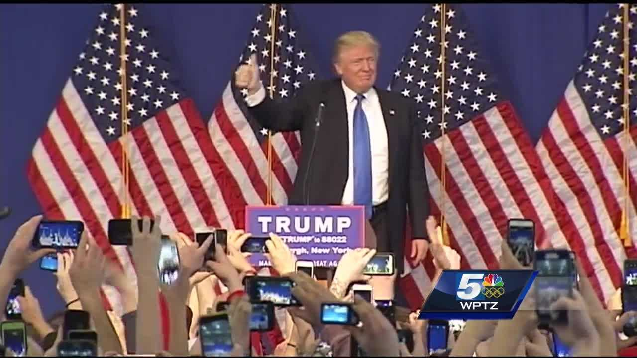 Donald Trump will be coming to Plattsburgh on Thursday.
