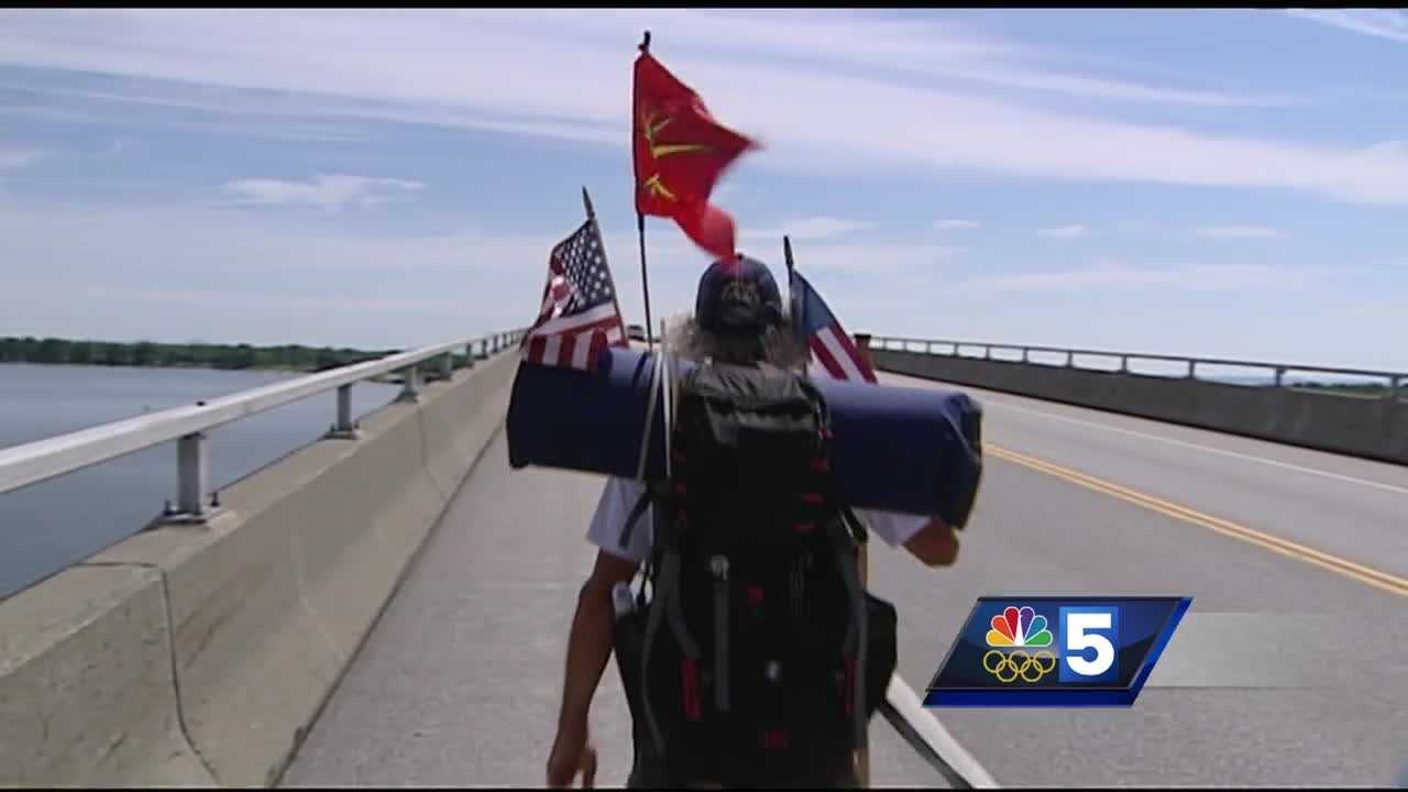 A New York native is walking the perimeter of the United States to raise awareness.