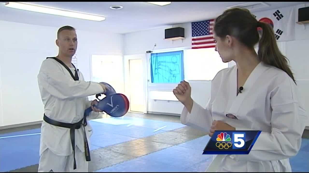 Master Gordon White teaches taekwondo in South Burlington. He was part of the U.S. National's Team in the 1990s and competed internationally. Now, he's giving NBC5's Renee Wunderlich a crash course in Olympic-style taekwondo.