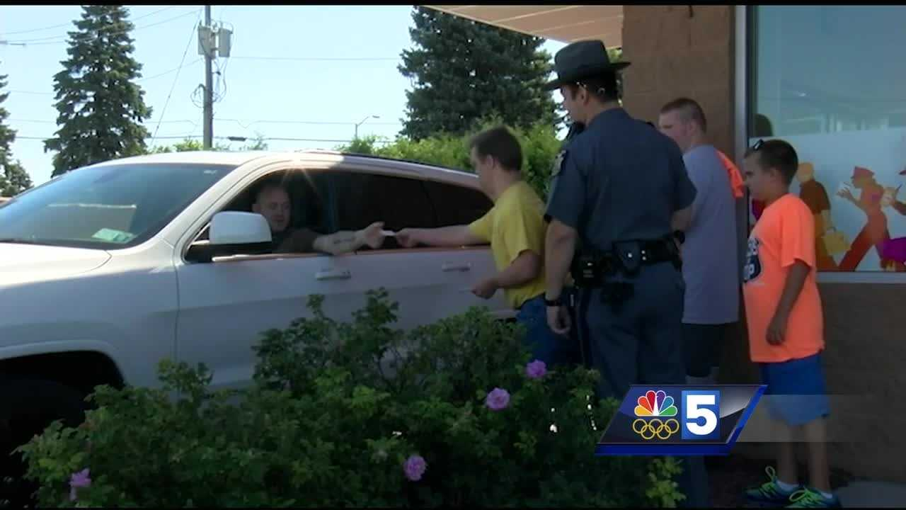 Special Olympics athletes partner with law enforcement for fundraiser