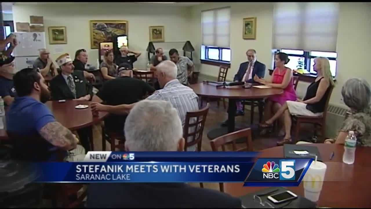 Congresswoman Elise Stefanik met with North Country residents on Tuesday.