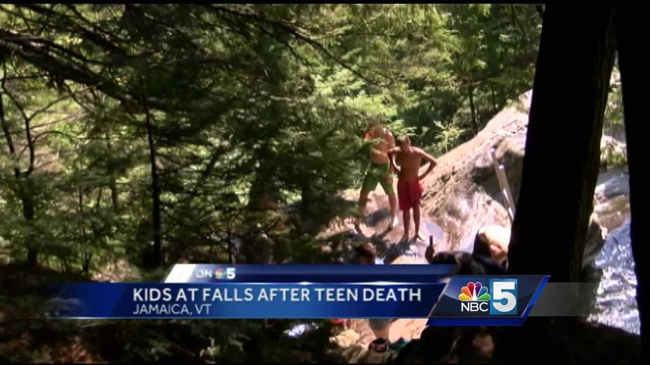 Just one day after one 17 year old fell to his death, more teenagers were at Hamilton falls Friday afternoon, swimming and climbing on the surrounding rocks.