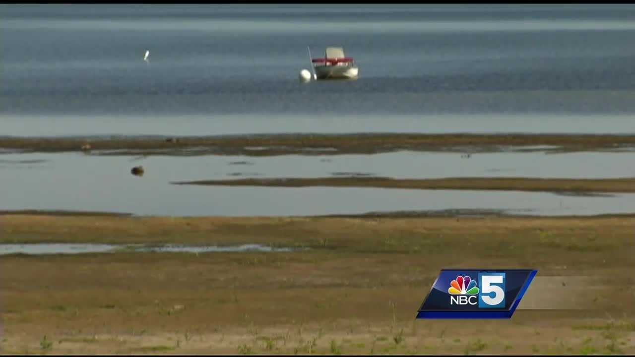 The low water level on Lake Champlain this summer has led to an increase in boats crashing into exposed rocks and reefs, the U.S. Coast Guard said.