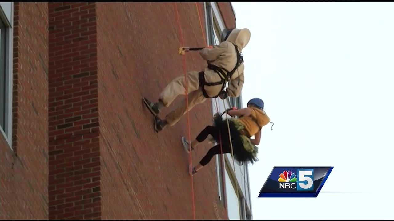 Supporters of the arts in Burlington go 'Over the Edge'