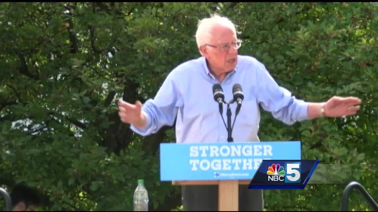With the presidential election about two months away, Sen. Bernie Sanders continued rallying support for Hillary Clinton by making a stop in New Hampshire.
