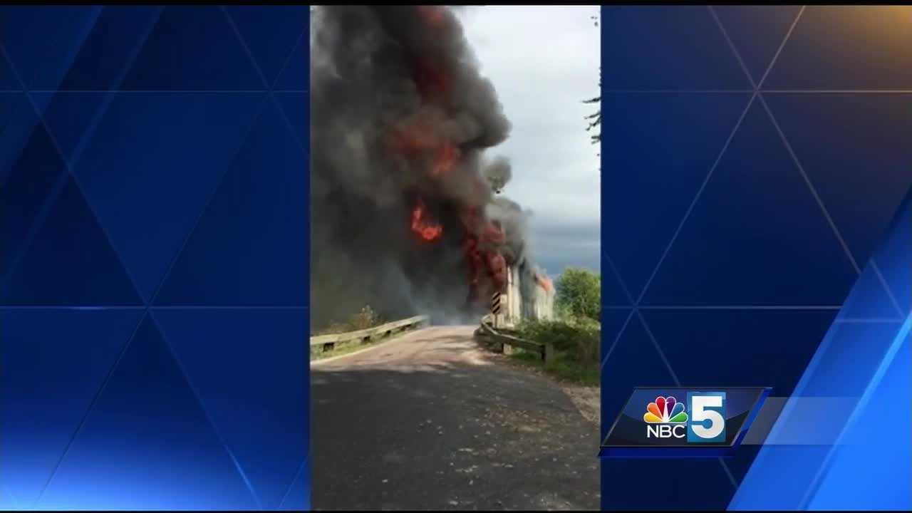 A historic covered bridge in Salisbury was heavily damaged by a suspicious fire.