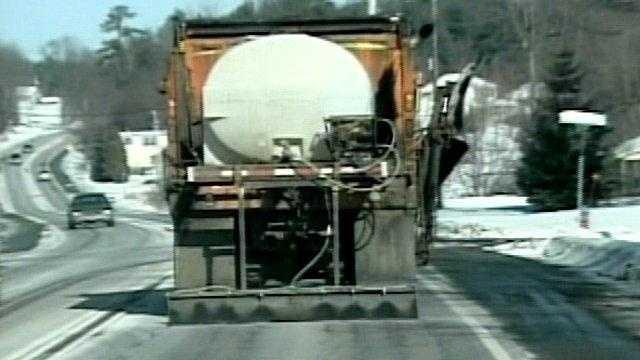 Salt brine truck