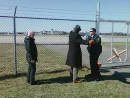 Security pat down at air base