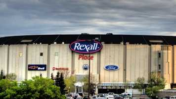 $7.70 for a 16 oz. beer at the Rexall Place in Edmonton, Canada.