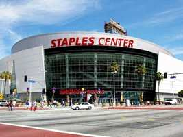 $8.00 for a 20 oz. beer at the Staples Center in Los Angeles, CA.