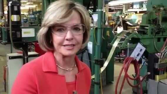 Sally Wiggin at Zippo headquarters
