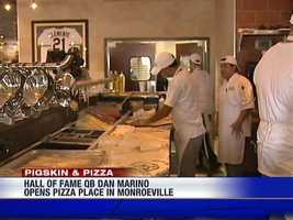 Anthony's Coal Fired Pizza opened in April 2012 in the Miracle Mile Shopping Center. (See video.)
